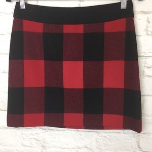 J Crew 100% wool plaid mini skirt
